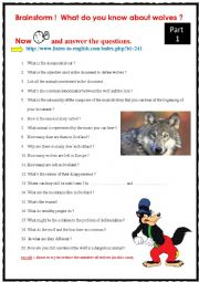 English Worksheet: Disappearing wolves (LISTENING) + audio link + key + transcript.