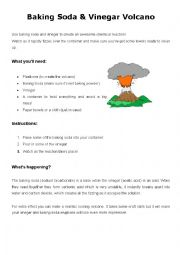 English Worksheet: Create a volcano