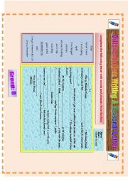 English Worksheet: Differentiation: Writing a personal letter (group B)