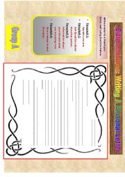 English Worksheet: Differentiation: writing a personal letter (part 3)