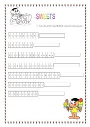 English Worksheet: Sweets!