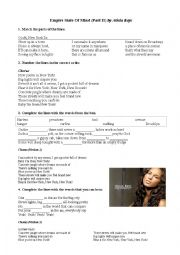 English Worksheet: Listening - Alicia Keys: Empire State of Mind (part II)