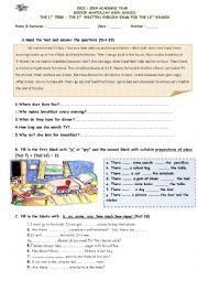 English Worksheet: worksheet for 10th grade students