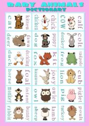 baby animals names - Moms and Babies