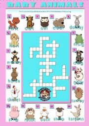 BABY ANIMALS - crosswords