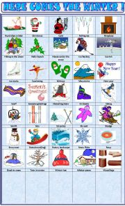 English Worksheet: Winter: pictionary