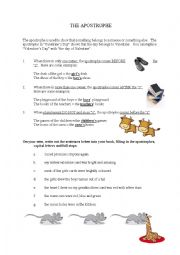 English Worksheet: Apostrophe