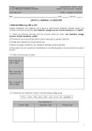 English Worksheet: CLIL