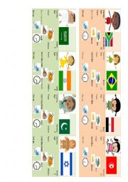 English Worksheet: country, food, age, schedule mingling