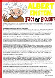 Albert Einstein:Fact or Fiction (Reading Comprehension)
