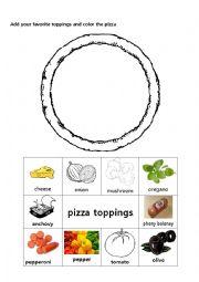 English Worksheet: I am a pizza 2