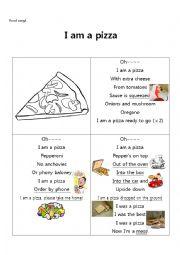 English Worksheet: I am a pizza 1