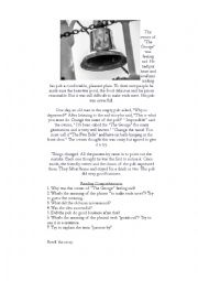 English Worksheet: The Five Bells