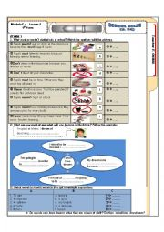 English Worksheet: Module 2 lesson 2 School rules   Tunisian 9th form sts