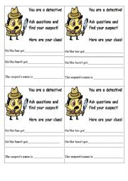 English Worksheet: Detective Ice-Breaker ``have got``