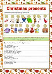 English worksheet: CHRISTMAS PRESENTS
