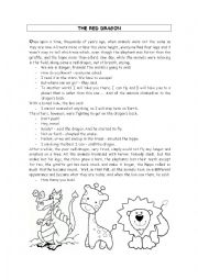 English Worksheet: The Red Dragon
