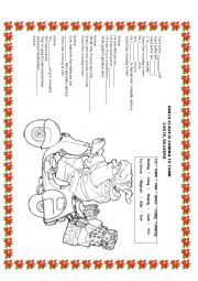 English Worksheet: Santa Clauss is coming to Town (CAROL) for christmas