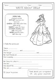 English Worksheet: GUIDED WRITING - 2/6