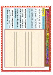 English Worksheet: Writing a rescue story: Differentiated instruction