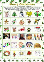 English worksheet: MERRY CHRISTMAS