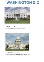 English Worksheet: Washington DC - Main Monuments