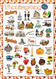English Worksheet: Thanksgiving Picture Dictionary#1