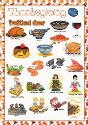 English Worksheet: Thanksgiving Picture Dictionary#2