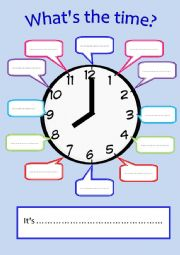 English Worksheet: Blank clock