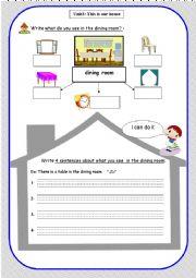 English Worksheet: house