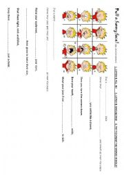 English Worksheet: Pull a funny face