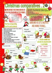 Christmas comparatives 2 - with key