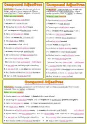Compound adjectives, (presented and explained the easy way!)