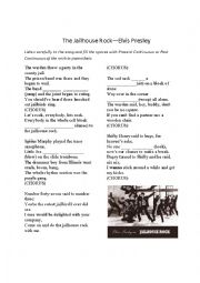 English Worksheet: The Jailhouse Rock--Elvis Presley