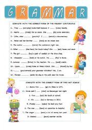 English Worksheet: GRAMMAR REVISION