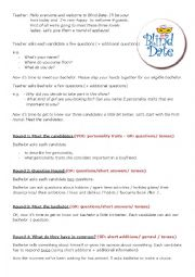 English Worksheet: OP Blind date show