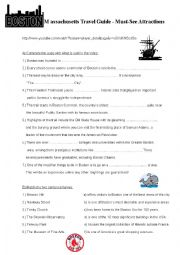 English Worksheet: Boston - video
