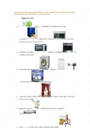English Worksheet: How to save energy