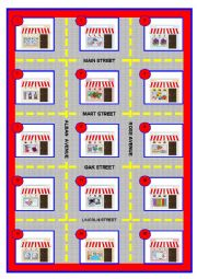 DIRECTIONS GAME 1 – boardgame, cards, directions – (text fully editable) *4 pages