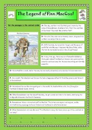English Worksheet: The Legend of Finn McCool and the Giant�s Causeway