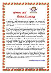 Women and Online Learning