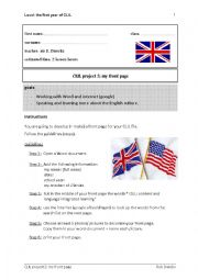 English Worksheet: My Front Page