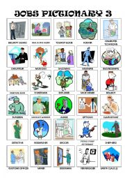 English Worksheet: Jobs Pictionary Part 3