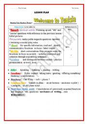 English Worksheet: welcome to Tunisia