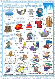 English Worksheet: WINTER picture dictionary