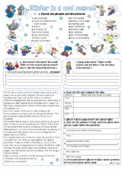 English Worksheet: Winter activities