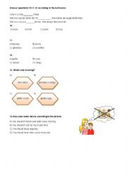 English Worksheet: Turkish State Schools Forward English 8th Grades SBS Test Units 1-2 ( Part 2 )