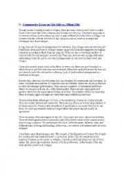 Essay  City Life Vs Village Life  Esl Worksheet By Adhithyap Essay  City Life Vs Village Life Business Cycle Essay also Custom Writers  Business Plan Writers San Antonio Tx