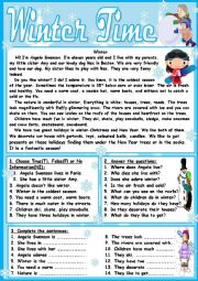 English Worksheet: Winter Time