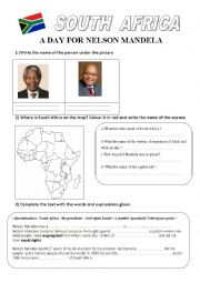 English Worksheet: a day for nelson MANDELA